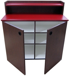 Fast Food Restaurant Condiment And Storage Cabinet Interior View