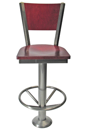 Wood Back Steel Counter Stools