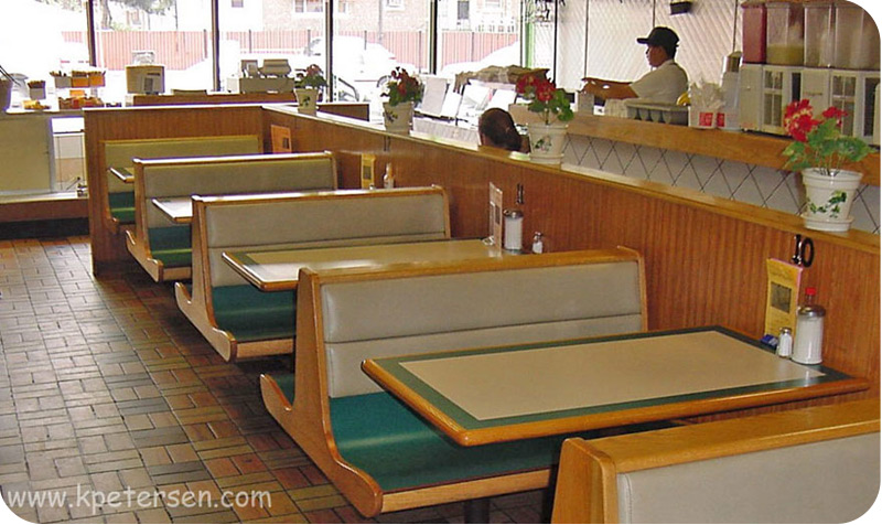 Fast Food Wood Booths
