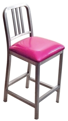 DecoDina Aluminum Counter Height Stool with Upholstered Seat  sc 1 st  Kurt Petersen Furniture & Aluminum Counter Stool With Upholstered Seat islam-shia.org