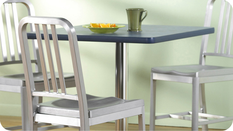 DecoDina Aluminum Restaurant Chairs Installation