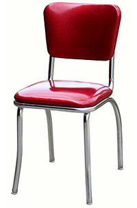 QUICKSHIP Standard Chrome Diner Chair Zodiac Glitter Burgundy Red Vinyl