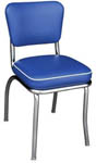 QUICKSHIP Deluxe Diner Chair Blue Vinyl