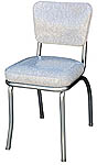 QUICKSHIP Deluxe Diner Chair Gray Cracked Ice Vinyl
