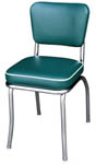 QUICKSHIP Deluxe Diner Chair Green Vinyl