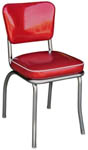 QUICKSHIP Deluxe Diner Chair Zodiac Burgundy Red Glitter Vinyl