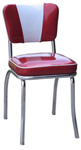 QUICKSHIP Deluxe V Back Diner Chair Zodiac Burgundy Red and Silver Glitter Vinyl