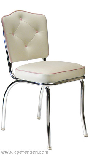 Cathedral Back Chrome Diner Chair 2 Inch Thick Seat ...