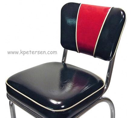 ... Deluxe V Back Diner Restaurant Chair Red And Black Detail
