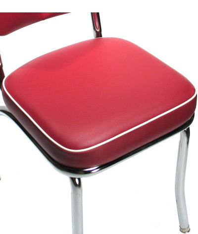 Deluxe Diner Restaurant Chair Red Seat Detail ...