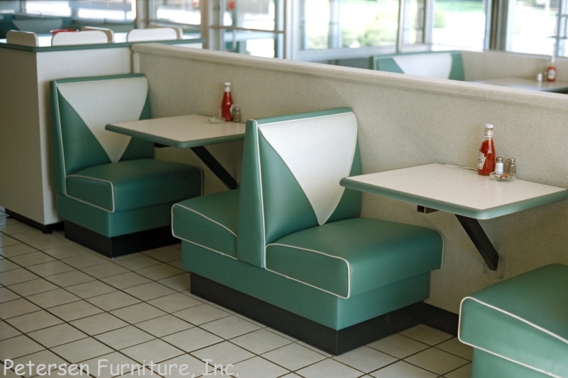 Double Deuce V Back Diner Restaurant Booth