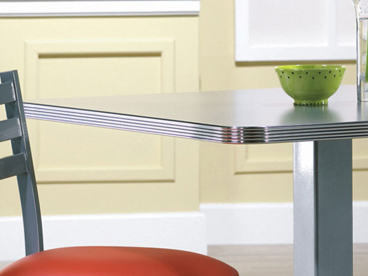 Classic Retro Metal Edge Diner Restaurant Table.