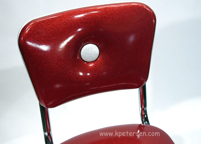Big Button Diner Chair Back Detail