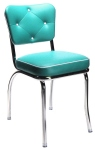 Diner Chair With Diamond Tufted Backrest