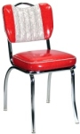 Diner Chair Two Tone Deluxe Channel Back with Handle