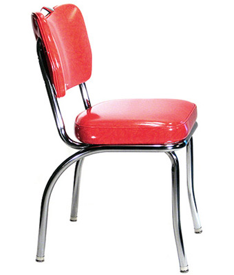 Plain Handle Back Chrome Diner Chair 2 Inch Thick Seat, ...