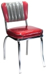 Two Tone Channel Back Diner Chair