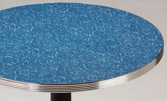Diner Restaurant Tables With Aluminum Edge With