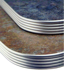 Specify Matte Finish Grooved Aluminum Table Edge Top