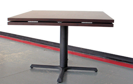 Drop Leaf Restaurant Table Folded Square