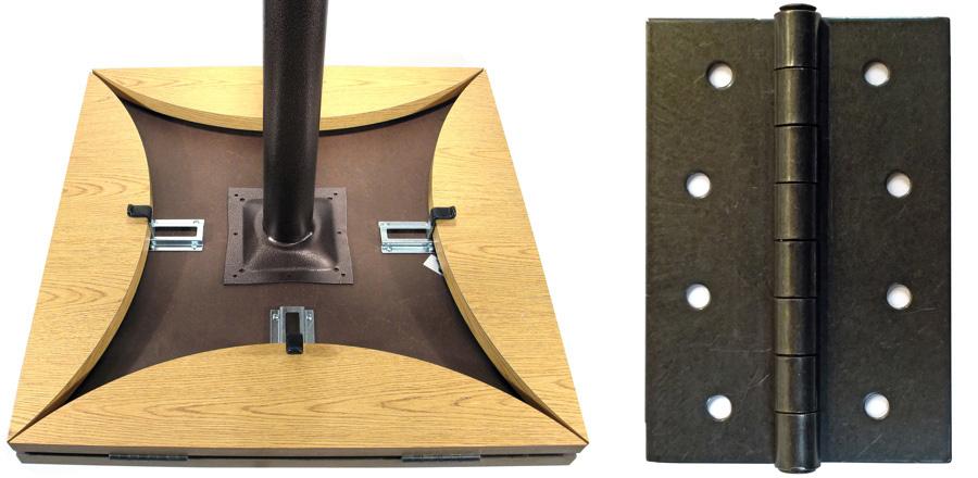 Dropleaf Table Underside Detail And Black Hinge Detail
