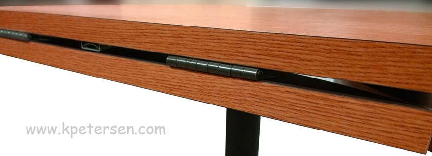 Dropleaf Table Hardware Kit Black Hinge Detail