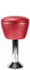 Upholstered Drum Seat Bolt Down Counter Stool
