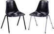Matching Fiberglass Shell Seat Chairs