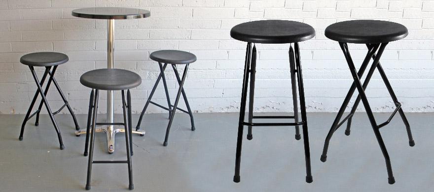 folding stool counter height steel bar stools black ikea sale uk