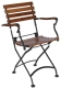 19th Century Reproduction French Bistro Cafe Teak Folding Arm Chair