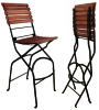 French Bistro Folding Bar Chair Chestnut