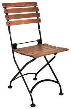 19th Century Reproduction French Bistro Cafe Chestnut Folding Side Chair ...