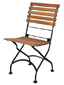 19th Century Reproduction French Bistro Teak Cafe Folding Side Chair