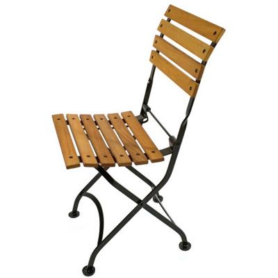 Merveilleux Teak Folding Bistro Chair Front View Teak Folding Bistro Chair Side View