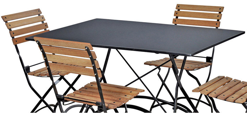 teak folding bistro chairs with steel table