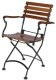 19th Century Reproduction French Bistro Cafe Folding Chestnut Arm Chair