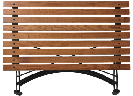 French Bistro Chestnut Folding Coffee Table Folded