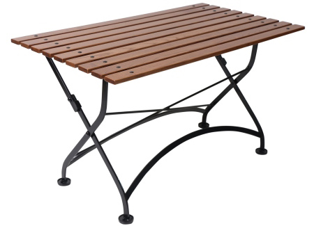 French Bistro Large Chestnut Folding Coffee Table