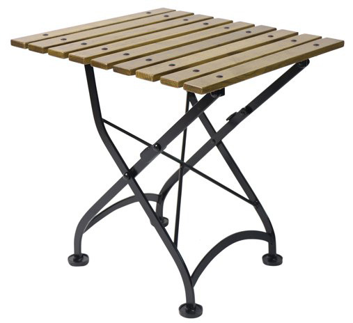 French Bistro African Teak Folding Coffee Table ...