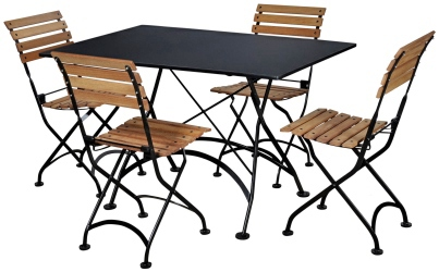 Bistro Set Outdoor Round Folding Bistro Table And Chairs Set – Cafe Style Tables and Chairs