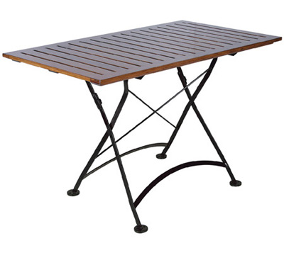 19th century reproduction french bistro cafe rectangular teak 19th century reproduction french bistro square teak folding table watchthetrailerfo