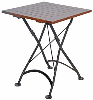 19th century french bistro small square folding table