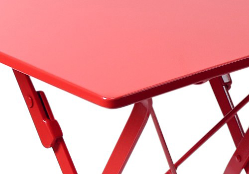 square steel outdoor folding table detail