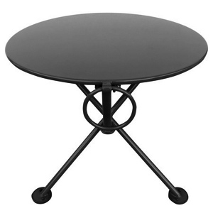 20 inch round steel outdoor tripod folding coffee table