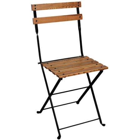 19th Century Reproduction French Garden Bistro Folding Chair