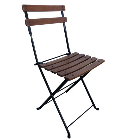 Economy 19th Century Reproduction French Garden Cafe Folding Chair Curved A