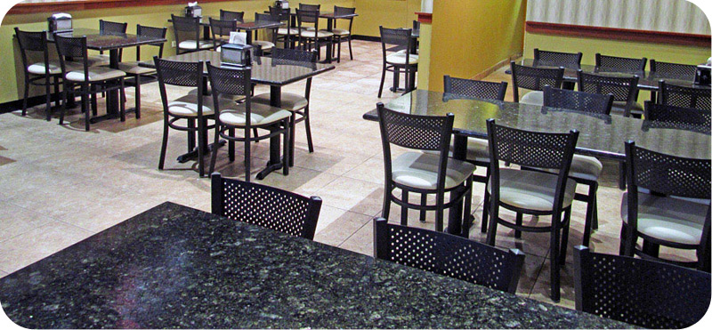 Granite Restaurant Table Installation