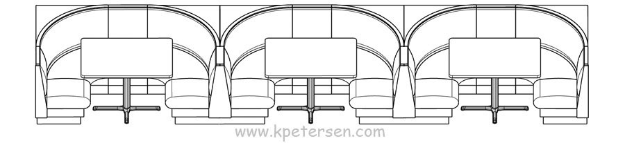 Upholstered Booth Layouts Typical