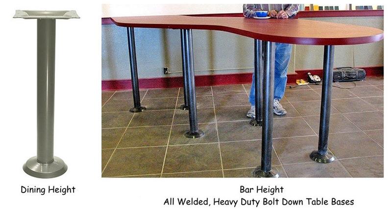 Heavy Duty Steel Bolt Down Table Base - Welded table base