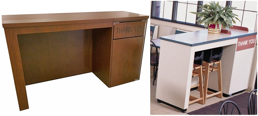 high chair storage and waste receptacle combination